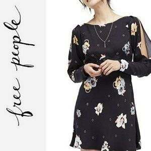 FREE PEOPLE Floral Print Night Combo Dress